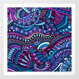Boho Carnivale Pattern 3 Art Print
