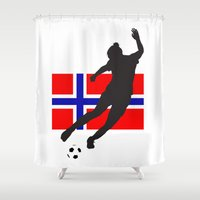 norway Shower Curtains featuring Norway - WWC by Alrkeaton