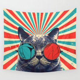 The Spectacled Cat Wall Tapestry
