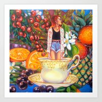 Youthberry Wild Orange Blossom Art Print