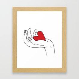 I give you my love Framed Art Print