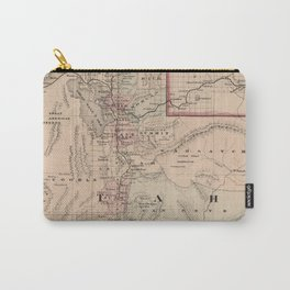 Vintage Map of Utah (1878) Carry-All Pouch