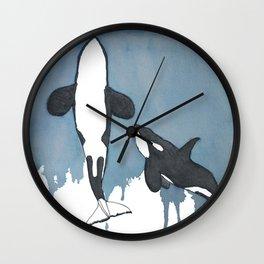 Orca Moon Wall Clock