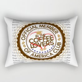 Coffee Lovers of America Club by Jeronimo Rubio 2016 Rectangular Pillow