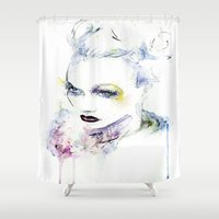 vogue Shower Curtains featuring Vogue by Chris Silver