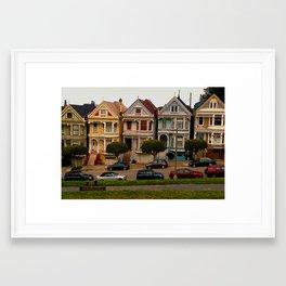 Painted Houses Framed Art Print