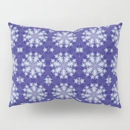 Frozen Snow Flakes Pillow Sham
