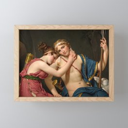 """Jacques-Louis David """"The Farewell of Telemachus and Eucharis"""" Framed Mini Art Print"""