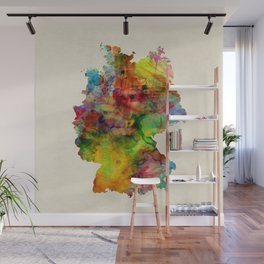 Germany Watercolor Map (Deutschland) Wall Mural