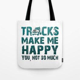 Trucks make me happy Tote Bag