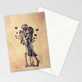 Always Kiss Goodnight Skeletons Stationery Cards