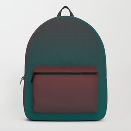Ombre Quetzal Green Dark Red Pear Gradient Pattern Backpack