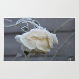Frosted Rose Ice Flower W Rug