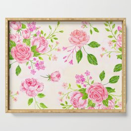 English Rose Pattern 02 Serving Tray