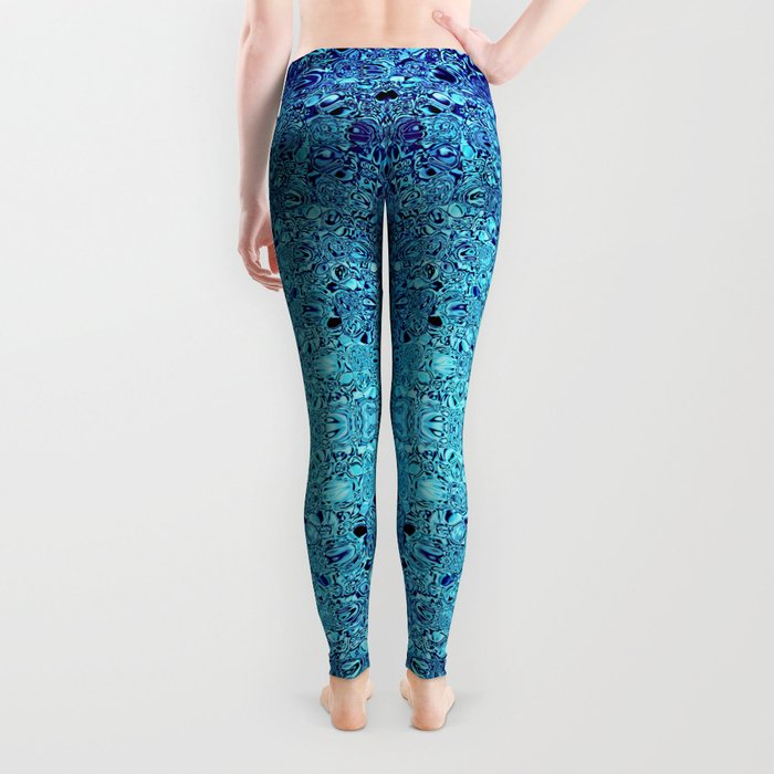 Deep blue glass mosaic Leggings