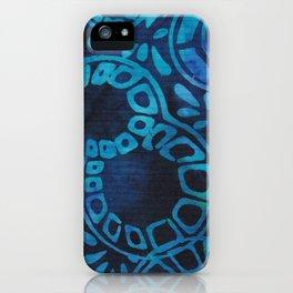 Blue Batik 09 iPhone Case