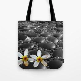 Black Zen Stones Tote Bag