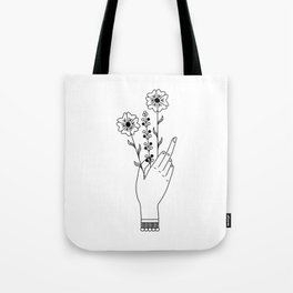 Middle Finger Tote Bag