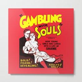 Gambling Metal Print