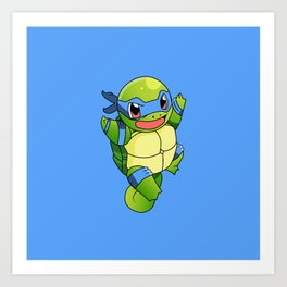 TMNT_POKET_MONSTER_BLUE Art Print