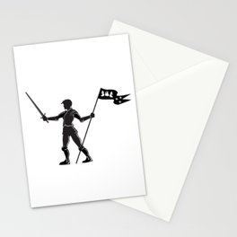 Joan of Arc silhouette Stationery Cards