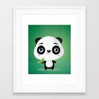 panda Framed Art Prints featuring Panda by Maria Jose Da Luz