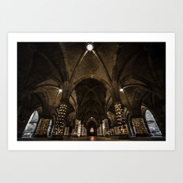 Glasgow University Cloisters Art Print