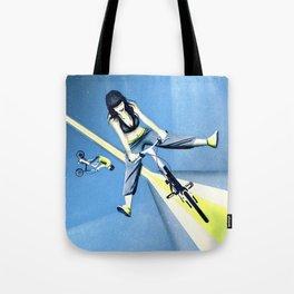 Happy Joyride (blue yellow) Tote Bag