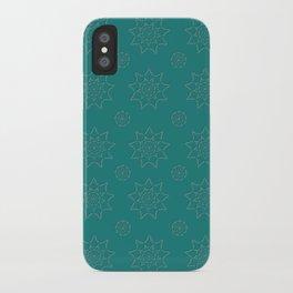 3D Texture Green - Pointilist Mini Mandala iPhone Case