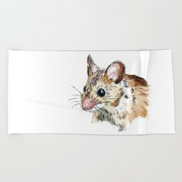 Little Brown Mouse Beach Towel