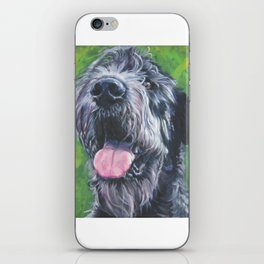 Irish Wofhound Dog Portrait Fine Art from an original painting by L.A.Shepard iPhone Skin