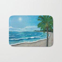 Tropical Beach Bath Mat