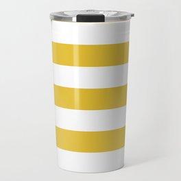 Stripes Yellow Travel Mug