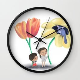Flower kids Wall Clock