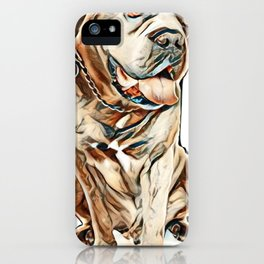cane corso in front of white background        - Image iPhone Case