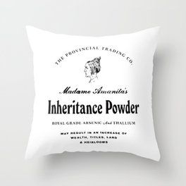 Inheritance Powder Throw Pillow