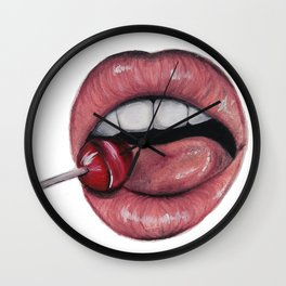 Lollipop Lick Wall Clock