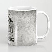 stay gold Mugs featuring Nothing Gold Can Stay by Sean Tulgetske