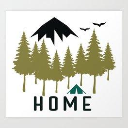 Wilderness Home Art Print