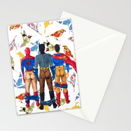 Super Hero BUTTs | It's a bird, it's a plane, it's... a booty Stationery Cards