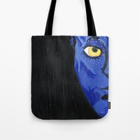 avatar Tote Bags featuring Avatar by Paxelart