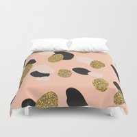 glitter Duvet Covers featuring Glitter by Laura Moreau