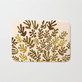 """Collage of Leaves, #7 """"Bayou"""" by Henri Matisse Bath Mat"""