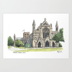 St. Albans Cathedral Art Print