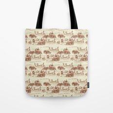Toile de jouy Swan Tote Bag