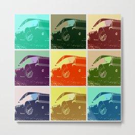 1968 Dodge Charger R/T - Pop Art III Metal Print