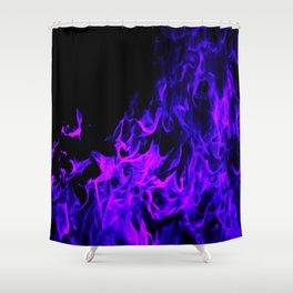Up In Flames Shower Curtain