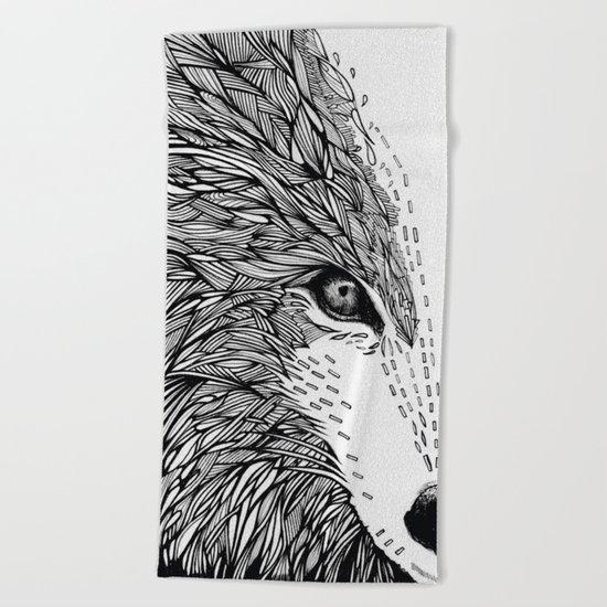 wolf like me Beach Towel