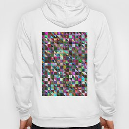 glitch color pattern Hoody