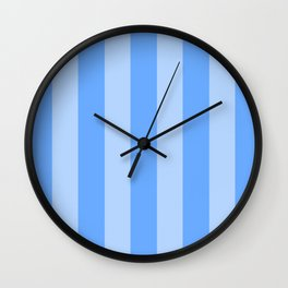 Sky Blue Stripes Wall Clock